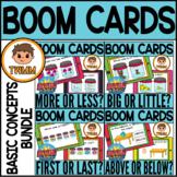 Basic Concepts BUNDLE l Comparing Positions & Size l Math Boom Cards