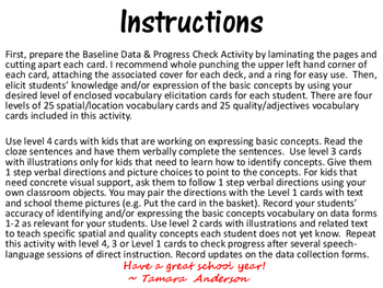 Basic Concepts Baseline Data & Progress Check Activity