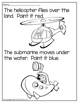 Basic Concepts Dot Dauber Art Beginner Level Following Directions Print and Go