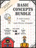 HUGE Basic Concepts & Following Directions Bundle (Multi-L