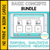 Basic Concepts Bundle BOOM Cards™️ Speech Therapy