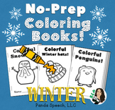 WINTER Basic Concepts Coloring Books: NO PREP!