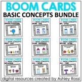 Basic Concepts Speech Therapy BOOM CARDS™️ | BUNDLE | Dist