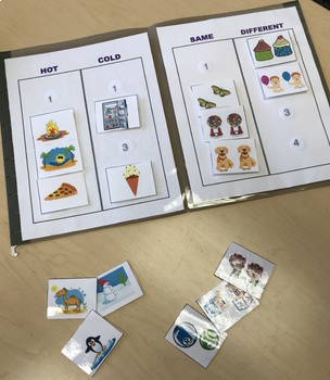Basic Concepts File Folder Game For Speech Therapy