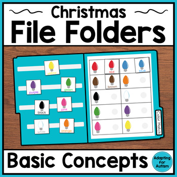 Christmas File Folder Activities for Special Education & Autism – Basic Concepts