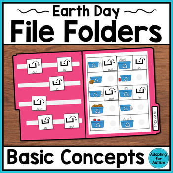 Earth Day File Folder Activities for Special Education & Autism – Basic Concepts