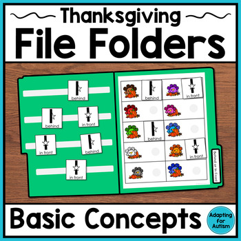 Thanksgiving File Folder Activities: Basic Concepts (Special Education)