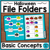 Halloween File Folder Activities for Special Education & Autism – Basic Concepts