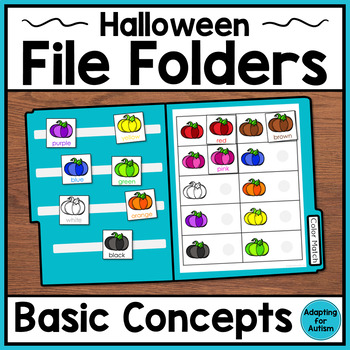 Halloween File Folder Activities: Basic Concepts