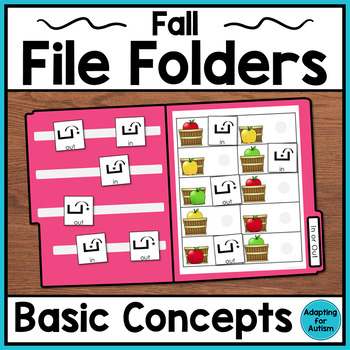 Fall File Folder Activities for Special Education and Autism – Basic Concepts