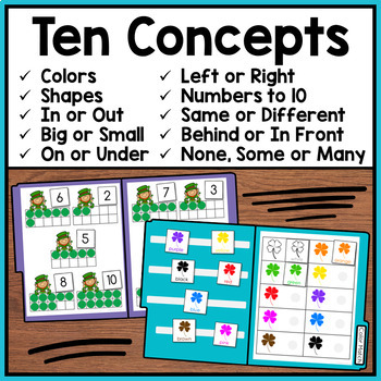 St. Patrick's Day File Folder Activities: Basic Concepts (Special Education)