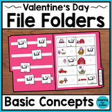 Valentine's Day File Folder Activities for Special Education – Basic Concepts