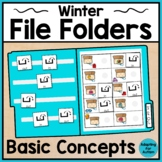 Winter File Folder Activities for Special Education and Autism – Basic Concepts