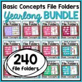 Basic Concepts File Folders Activities for Special Educati