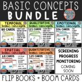 Basic Concepts Flip Book + Boom Cards GROWING BUNDLE! - Sp