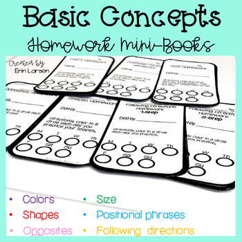 Basic Concepts Homework Mini Books