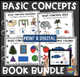 Basic Concepts Interactive Book BUNDLE! 4 Books! + BOOM Cards