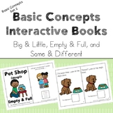 Basic Concepts Interactive Books - Big/Little, Full/Empty,
