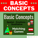 Basic Concepts Matching Games - Christmas Speech Therapy -