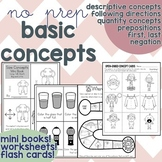 Basic Concepts No Prep Worksheets (Print and Go)