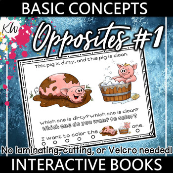 Opposites Interactive Book - Basic Concepts