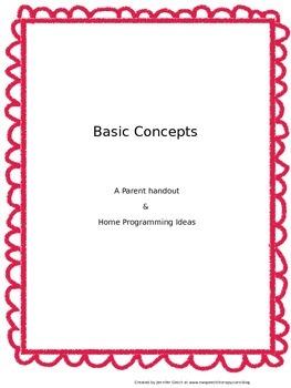 Basic Concepts: Parent Handout & Home Programming Ideas
