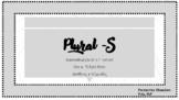 Basic Concepts: Plural -S