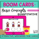 Basic Concepts QUANTITATIVE Boom Cards™ {Speech Therapy Distance Learning}