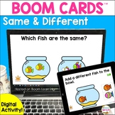 Same and Different Speech Therapy BOOM Cards