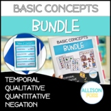 Basic Concepts Bundle NO PREP Speech Therapy