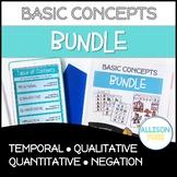 Basic Concepts Bundle NO PREP Speech Therapy