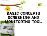 Basic Concepts Screening & Monitoring for Speech Therapy