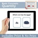 Basic Concepts Speech Therapy Quantity Quantitative | Digital & Printable