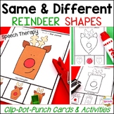 Same and Different Reindeer Shapes: Basic Concepts Speech Therapy