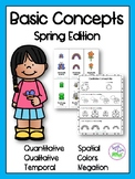 Basic Concepts: Spring Edition {Flashcards & Worksheets}