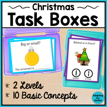 Christmas Task Cards: Speech Therapy Basic Concepts