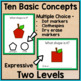 Apples and Fall Task Cards: Speech Therapy Basic Concepts