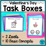 Valentine's Day Task Cards: Basic Concepts for Special Education and Autism