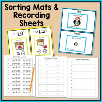Winter Task Cards: Basic Concepts for Special Education and Autism