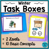 Winter Task Cards for Special Education and Autism - Basic Concepts