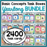 Basic Concepts Task Cards Yearlong BUNDLE for Special Education and Autism