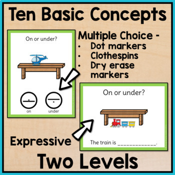 Basic Concepts Task Cards for Special Education and Autism Yearlong BUNDLE
