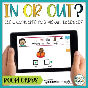 Basic Concepts for Speech Therapy | In or Out Boom Cards