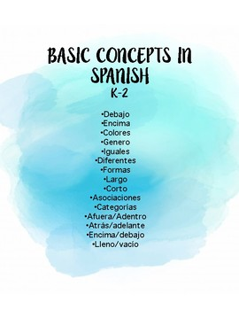 Basic Concepts in Spanish