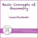 Basic Concepts of Geometry Lesson Plan Bundle