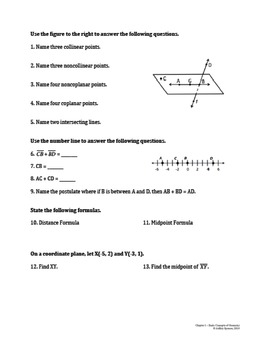 Basic Concepts of Geometry Test