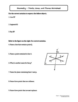 Basic Concepts of Geometry Worksheet Bundle