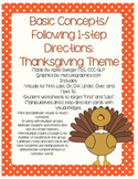 Basic Concepts/1-Step Directions: Thanksgiving Theme