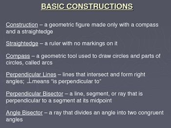 Basic Constructions Power Point Lesson