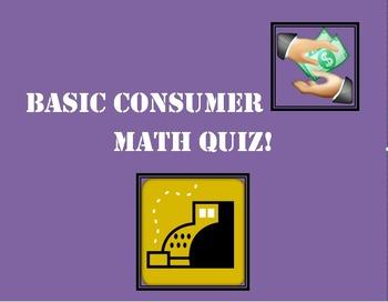 Basic Consumer Math Quiz